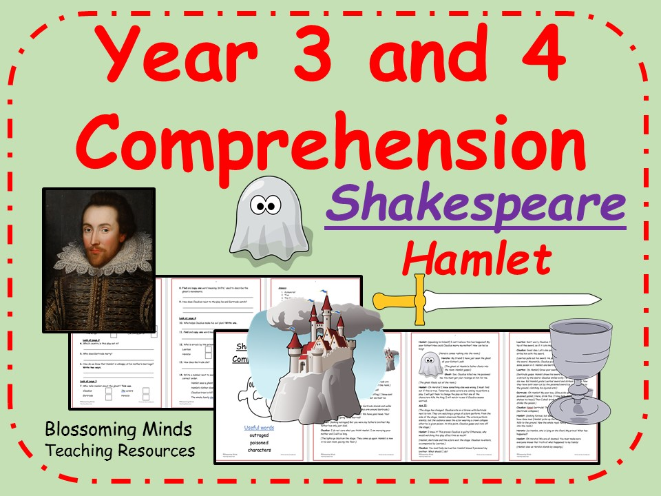 Hamlet - Year 3 and 4  reading comprehension (Shakespeare Week)