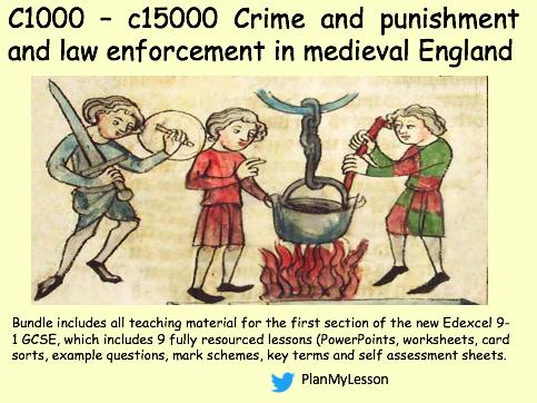 Edexcel GCSE (9-1) History Crime and Punishment c1000-c1500