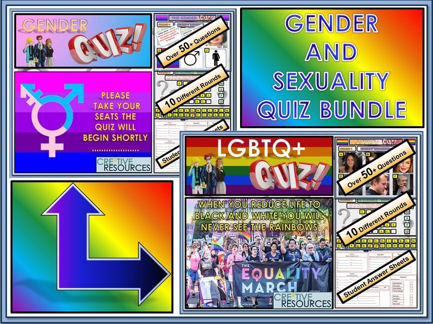 Bullying: Anti - Bullying Gender and Sexuality Quiz Lesson Bundle