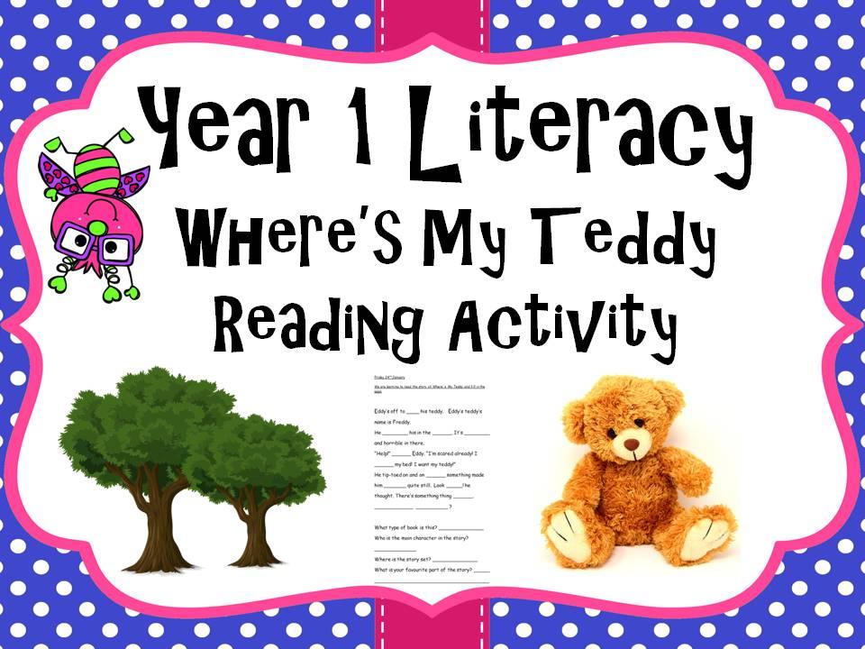 Year 1 Literacy - 'Where's my teddy' Reading activity