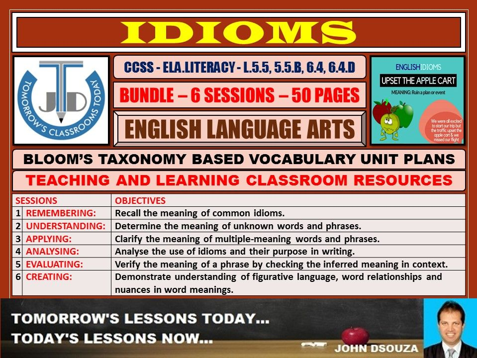 IDIOMS: BLOOM'S TAXONOMY BASED RESOURCES - BUNDLE
