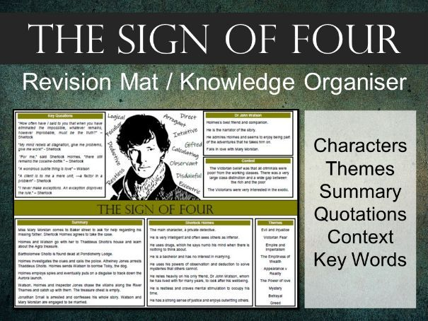 The Sign of Four Revision Mat / Knowledge Organiser