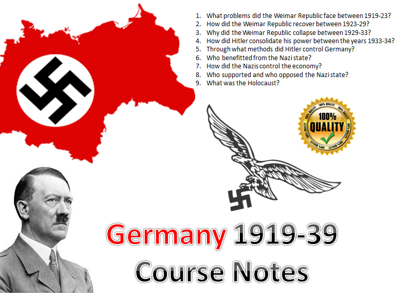 Weimar & Nazi Germany Entire Course Notes (1919-39) - 52 pages