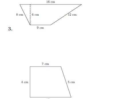 Area of trapezium worksheet (with solutions)