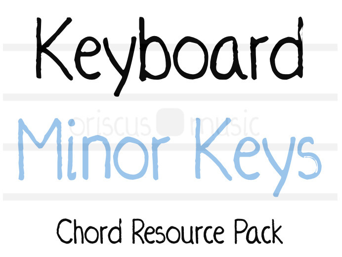 Keyboard Minor Key Chord Cards