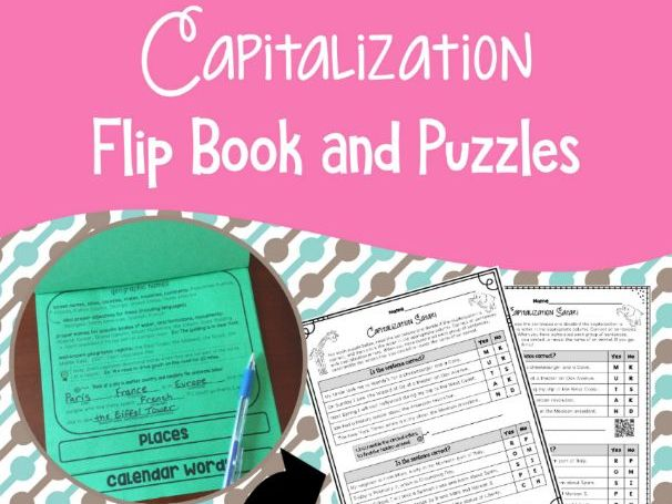 Capitalization Flip Book and Puzzles