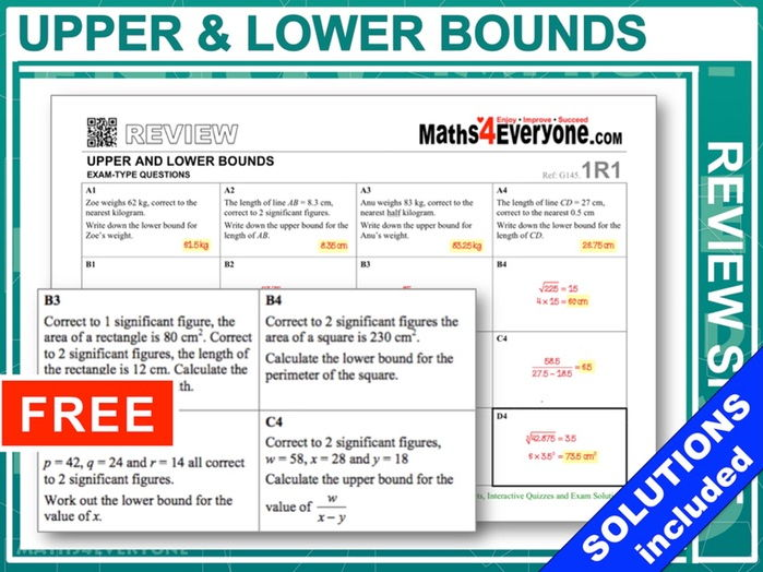 Upper and Lower Bounds (Topic Review)