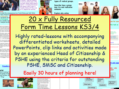 Form Time Bundle - PSHE / Citizenship