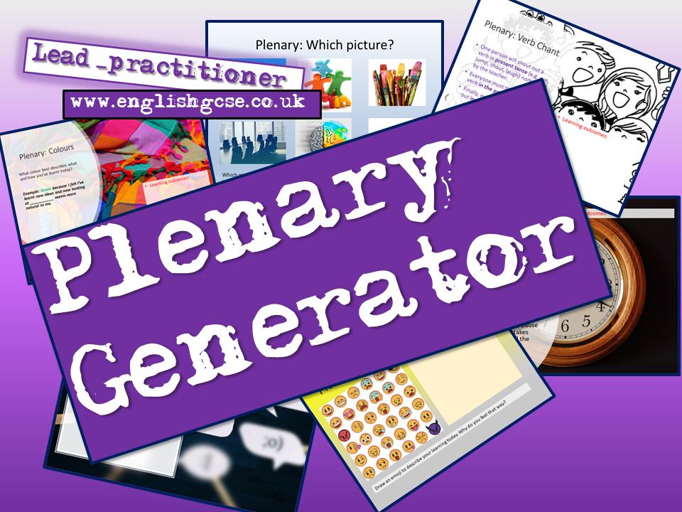 Plenaries - Plenary Generator AfL