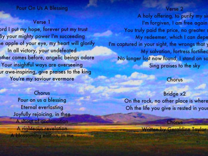 Pour on us a Blessing - Song