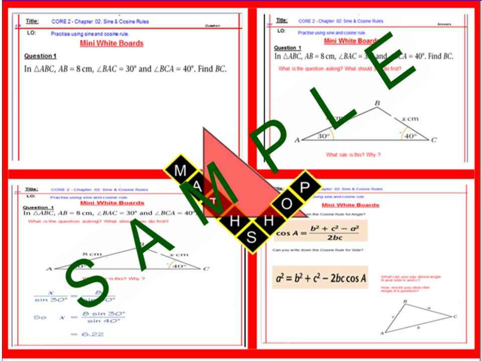 Sine Rule and Cosine Rule (Advanced Trigonometry)