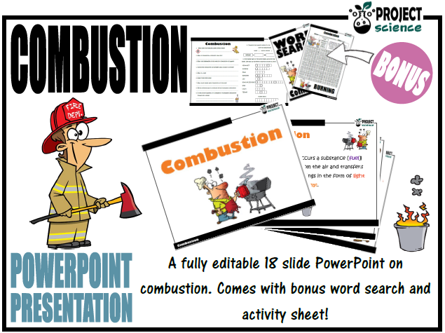 Combustion PowerPoint and Activity Sheets