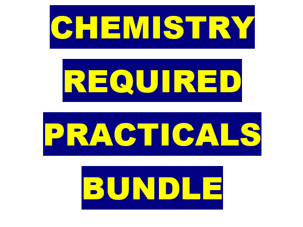 AQA A-level Chemistry Required Practicals Workbooks Bundle