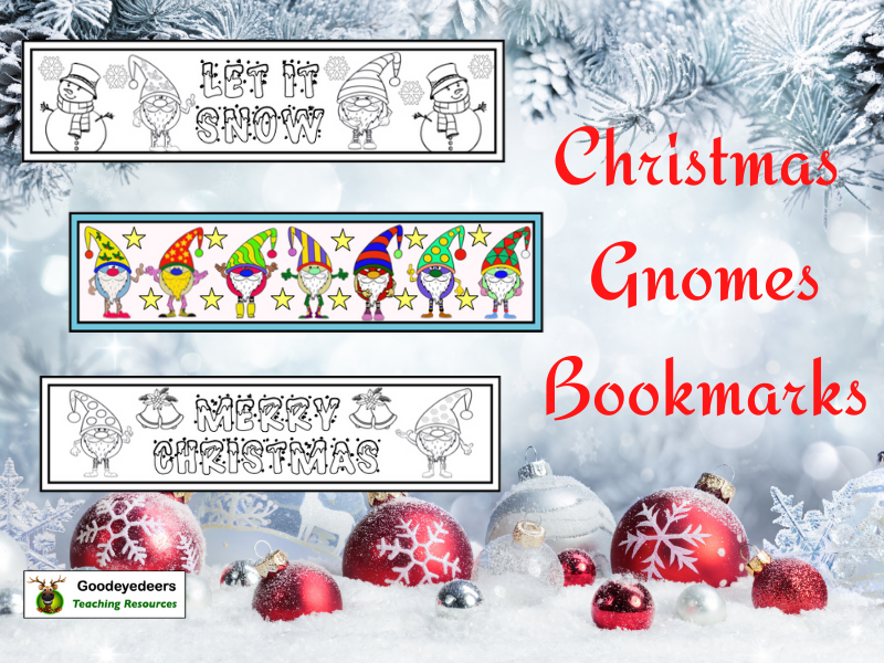 Christmas Gnomes Bookmarks