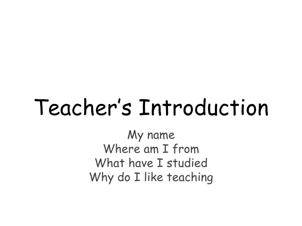 Presentation for your first lesson with a class group. Editable pptx.