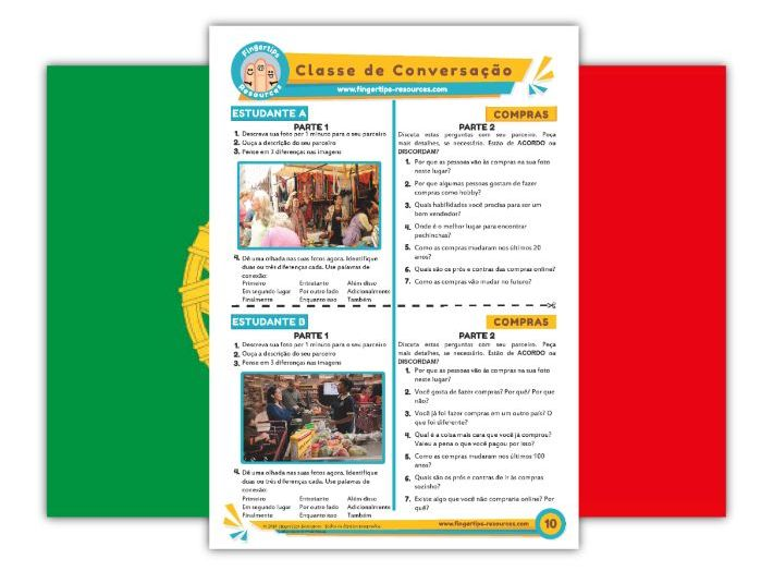 Compras - Portuguese Speaking Activity