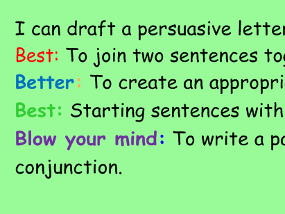 An excellent lesson on Persuasive writing