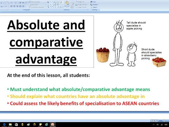 Absolute and comparative advantage - A level Business / Economics