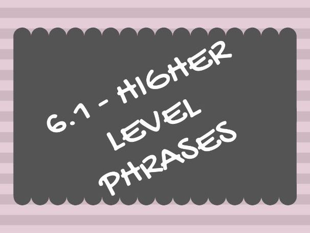 Unit 6.1 (Social issues) HIGHER LEVEL/SMASHED IT PHRASES
