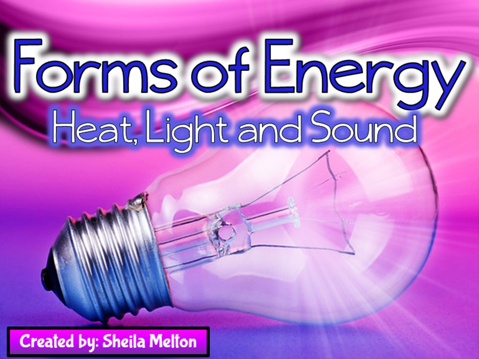 Forms of Energy (Heat, Light, Sound) PowerPoint