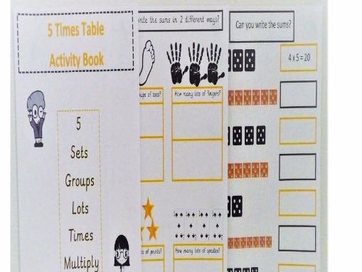 5 Times Table Activity Book