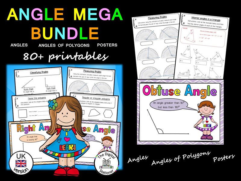 Angles MEGA Bundle (UK version) - 80+ printables