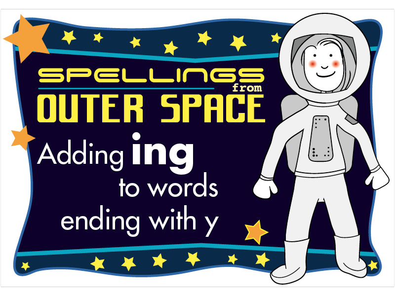 Year 2 Spellings Adding ING to words ending with Y