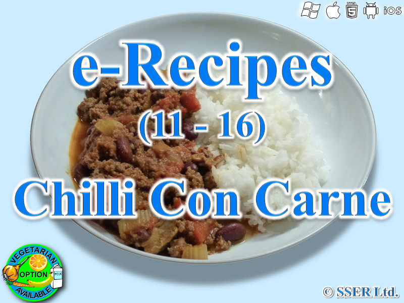 36.   Chilli Con Carne (e-Recipe)