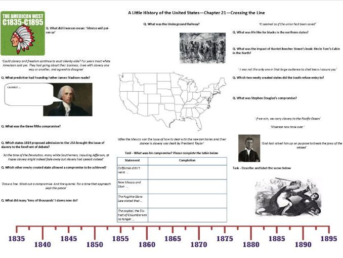 Worksheet to support J.W. Davidson's 'A Little History of the United States' Chp 21