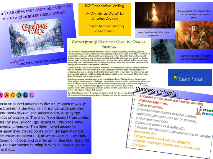 A Christmas Carol KS2 PowerPoint   Teaching Resources