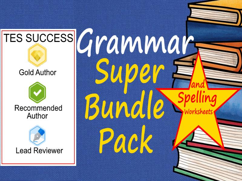 ESL Grammar and Spelling Bundle