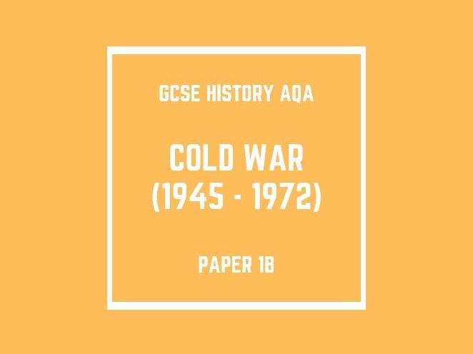 GCSE History AQA Paper 1B: Cold War