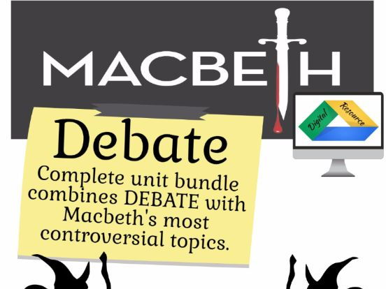 Advertising powerpoint templates by templatesvisioncom teaching macbeth debate lessons practice graphic organizers digital and printable toneelgroepblik Choice Image