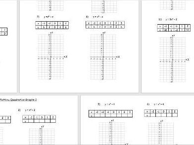 Plotting and solving quadratic graphs (3 lessons)