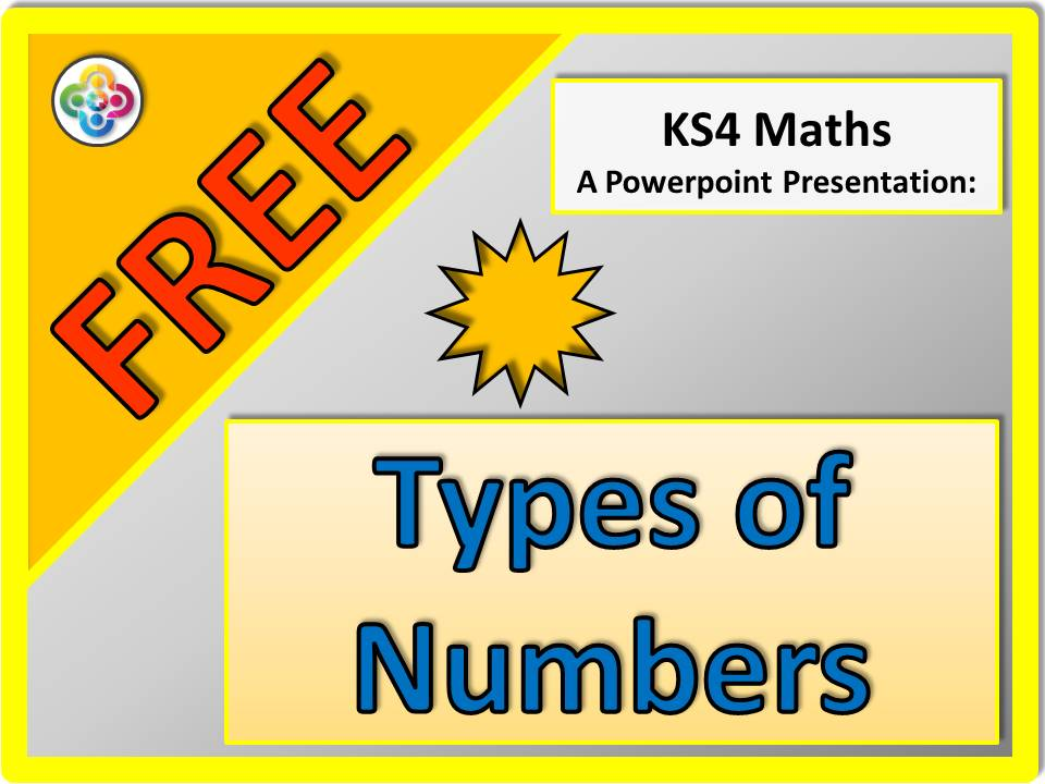 Types of Numbers - Powerpoint. Revision. KS4.