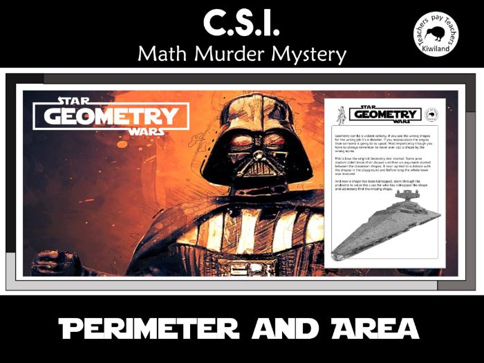 CSI: Math Murder Mystery - Geometry Wars - Perimeter and Area