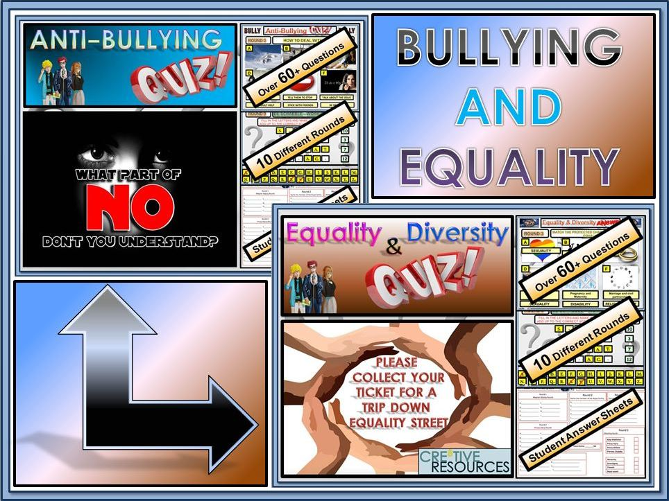 Anti - Bullying, Equality and Diversity Quiz Lesson Bundle