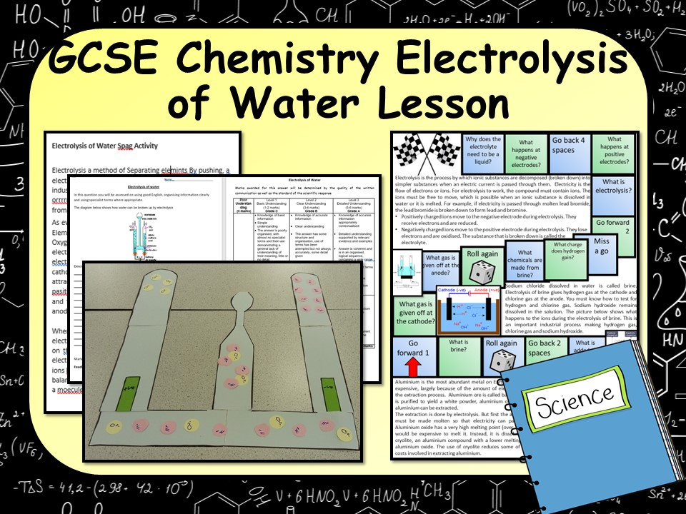 KS4 AQA GCSE Chemistry (Science) Electrolysis of Water Lesson