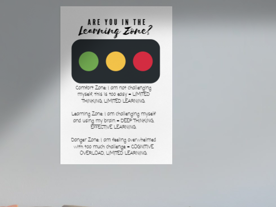 Learning Zones Posters: Growth Mindset