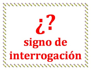 Punctuation in Spanish Posters