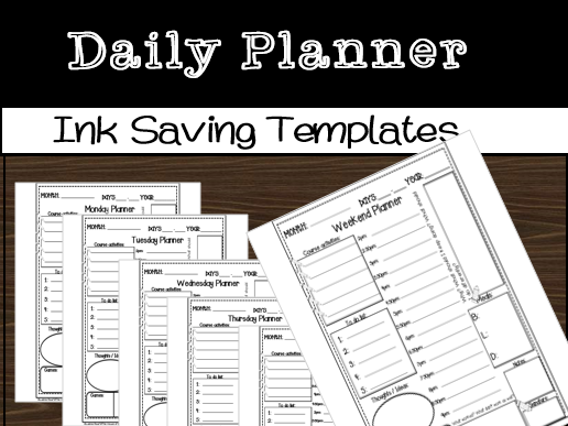 Daily Planner Overview Templates(The House of Education)