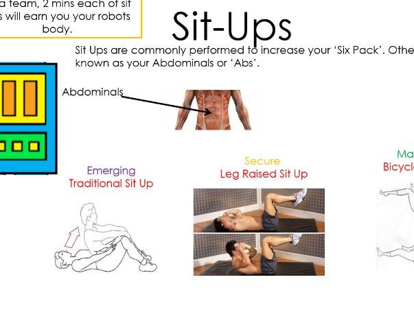 Robotz - Health and Fitness circuit resource