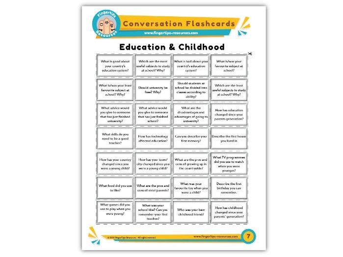 Education & Childhood - Conversation Flashcards