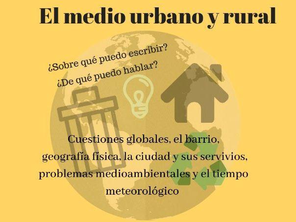 Spanish ab Initio oral individual (preguntas por temas) EL MEDIO URBANO Y RURAL