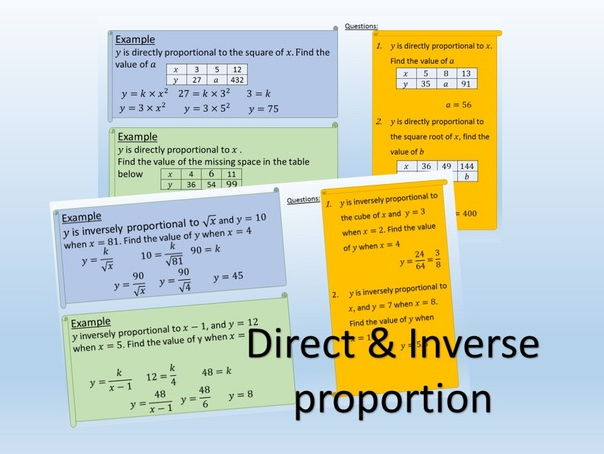 Direct & Inverse Proportion Revision