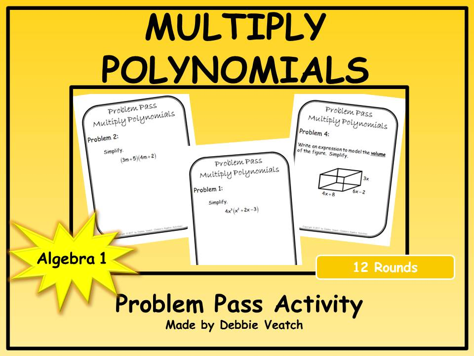 Multiply Polynomials Problem Pass Activity