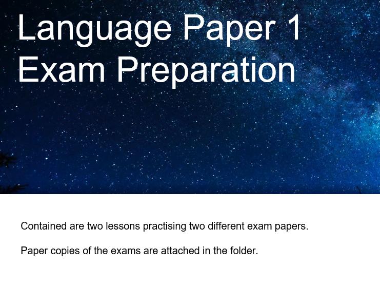 English Language Paper 1 Exam Preparation