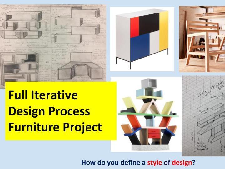 Iterative Furniture Design Project