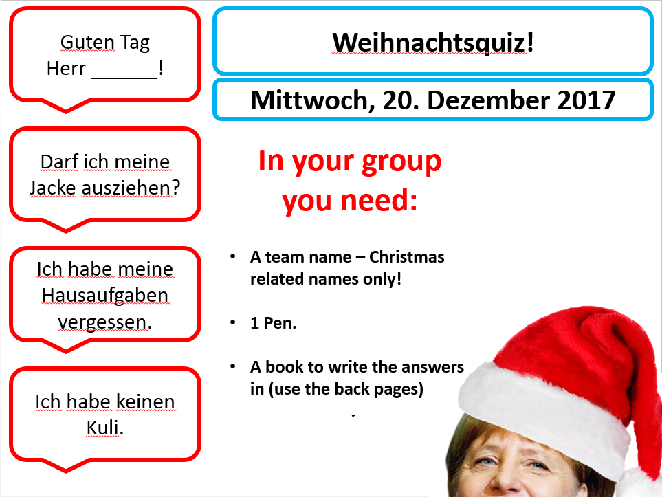 German Christmas Quiz