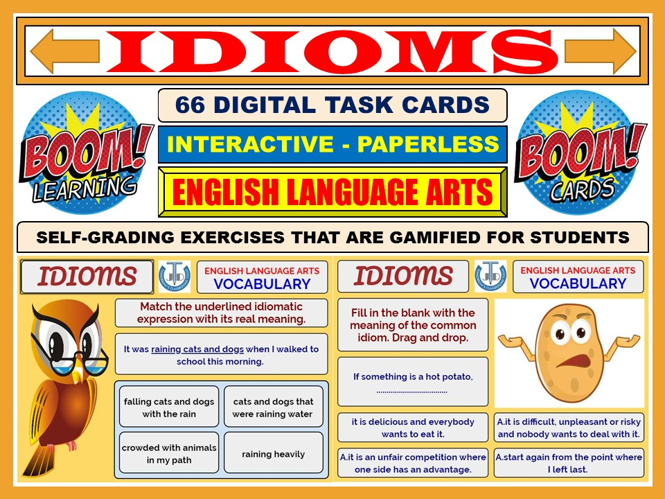 IDIOMS: 66 BOOM CARDS